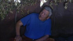 Leo Pard in the Sweat Lodge