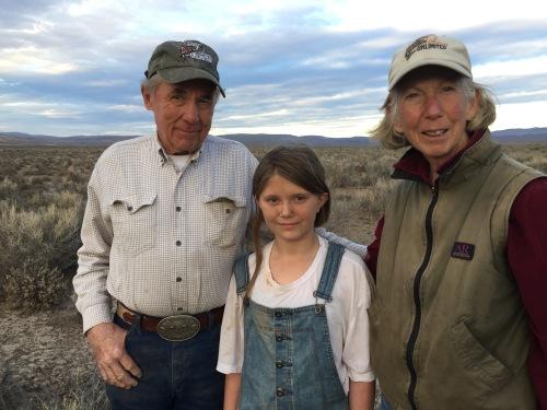 John Hussa, Rylee Dickson and Linda Hussa.