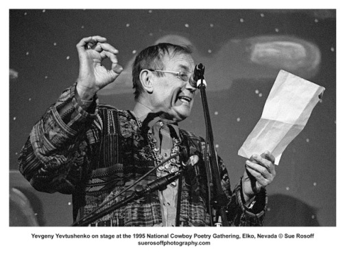 Yevtushenko reciting 1995©Rosoff